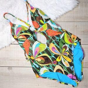 Trina Turk One Piece Tropical Swimsuit Size 8